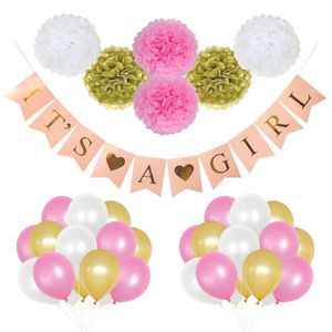 it's a girl 37 piece baby shower party supplies